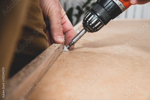 Photo Fixing plywood for furniture stability