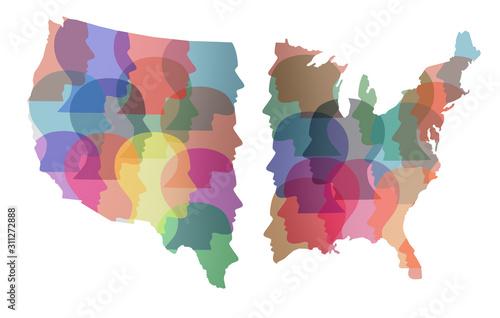 Divided America Canvas Print