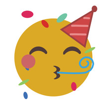 Party Emoji Celebrating Birthd...