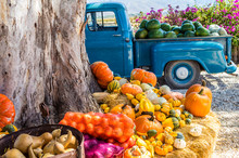 Old Truck With Vegetables And ...