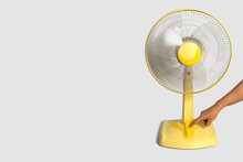 Electric Yellow Table Fan Isol...