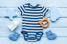 Blue Bodysuit For Baby Boy Nea...