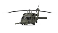 Military Helicopter Isolated