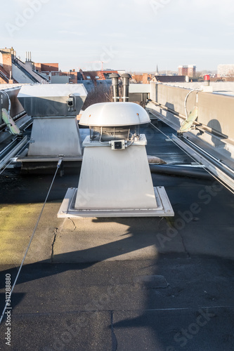Fotomural  ventilation on the roof