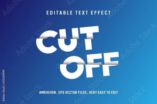 Cut off text effect, editable text Wallpaper Mural