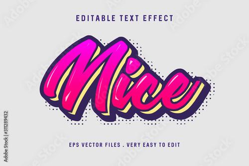 Nice gradient text effect, editable text Fotobehang