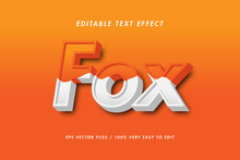 Fox 3d Realistic Text Effect, ...