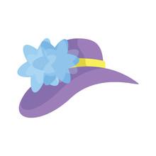 Cute Women Victorian Hat Icon ...