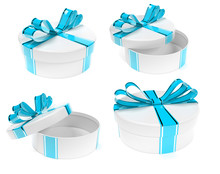 Round Gift Box Decorated With ...