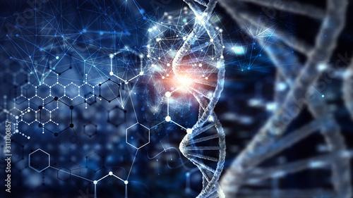 Papel de parede Biotechnology digital background . Mixed media