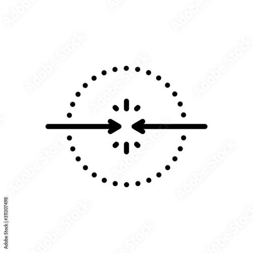 Black line icon for encounter Canvas Print