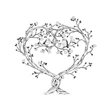 Trees Intertwined In Heart Sha...