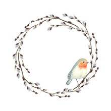Frame Of Willow Branches And B...