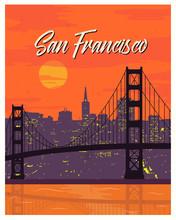 San Francisco Vintage Poster