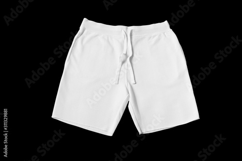 White shorts on a black background cut out. Mock-up. Canvas-taulu