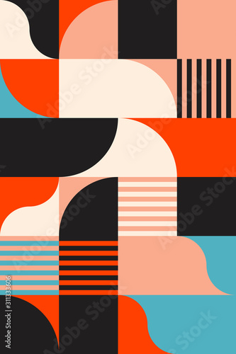 Neon Abstract Vector Pattern - 311333606