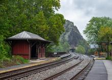 Railroad Tracks At Harpers Fer...