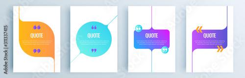 Fotografia Quote frames blank templates set