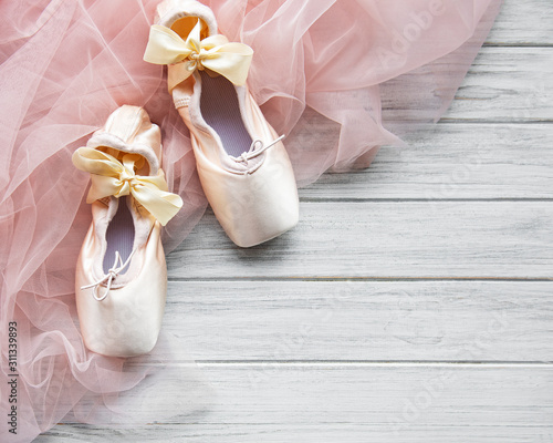 Pointe ballet shoes Wallpaper Mural