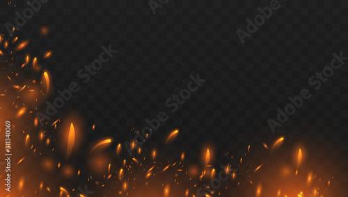 Fototapeta Red Fire sparks vector obraz