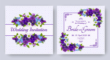 Wedding Invitation With Flower...
