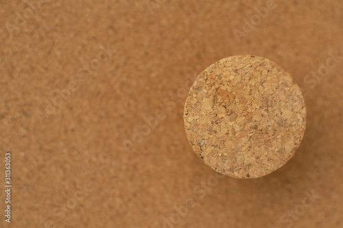 Blank cork board brown texture with cork stopper background Fototapet