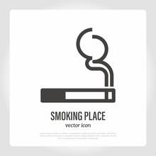 Smoking Place Symbol. Permissi...