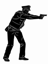 Illustration Of A Policeman Wi...