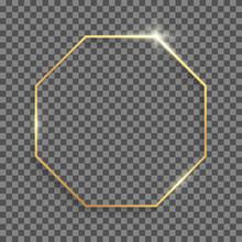Golden Octagonal Frame With Sh...