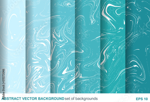 Fotografia  Set of paint and marble textures