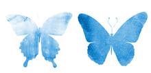Two Watercolor Butterflies , I...