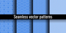Seamless Pattern. Wave Set. Ch...