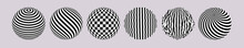 Striped Circles Set