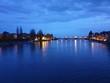 Leinwanddruck Bild - Konstanz bei Nacht