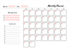 Monthly Planner Printable Temp...