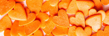 Orange Hearts Background, Long...