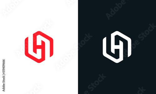 Fotografia Modern creative line art letter H logo.