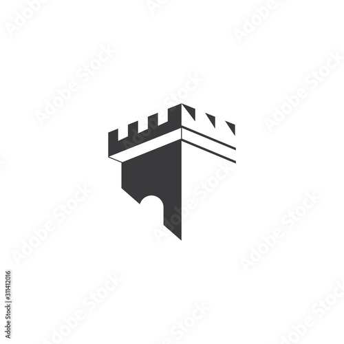 Castle Logo Template vector symbol Wall mural