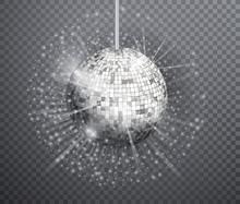 Silver Disco Ball Vector, Shin...