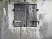 Closeup Of Rusty Wooden Window...