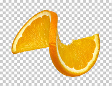 Twisted Orange Slice On Checke...