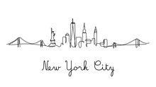 One Line Style New York City S...