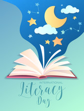 Literacy Day Poster Design Wit...