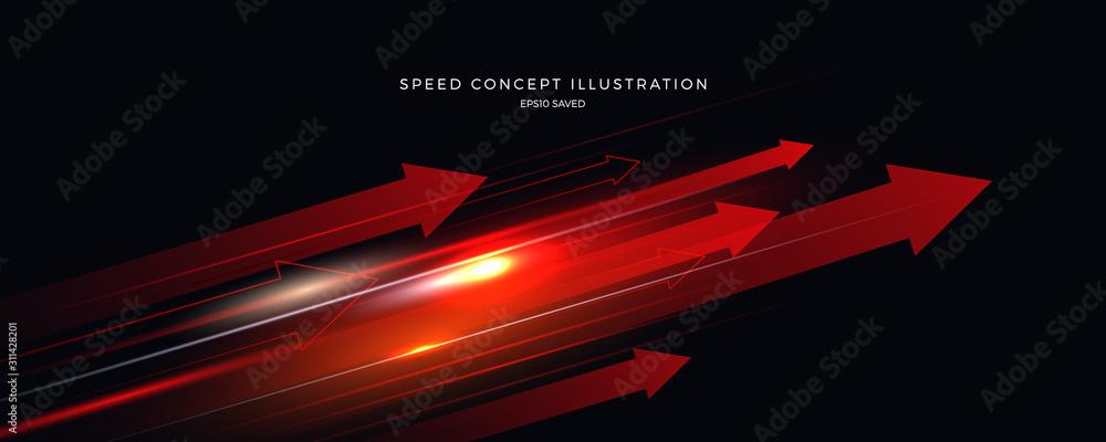 Fototapeta speed concept illustration, fast background