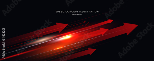 Fotografiet speed concept illustration, fast background
