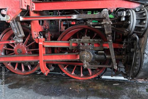 Obraz Antreibsgestänge einer Dampflokomotive - fototapety do salonu