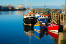 Bright Colourful Moored Toy Bo...