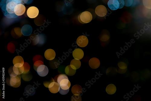 Valokuva Multicolored Bokah Balls Overlay