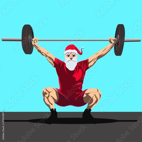 Photo santa claus crossfit navideño