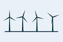 Wind Vector Turbine Icon. Wind...
